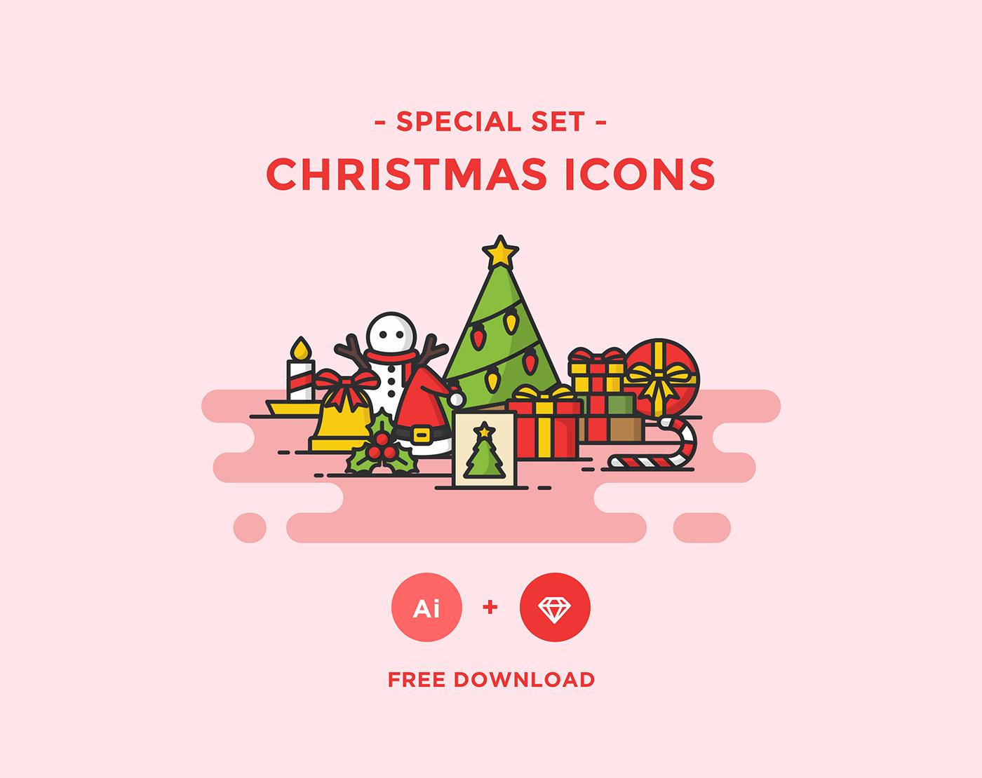 Iconos navideños para descargar gratis