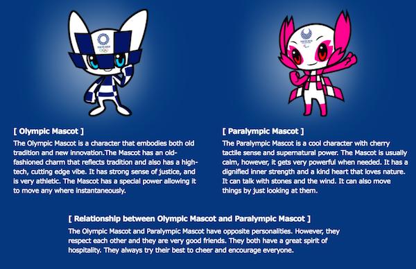 Diseños de mascotas de Tokio 2020