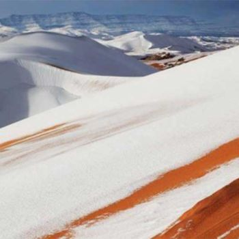 Fotografias de la nevada en el Sahara (1)
