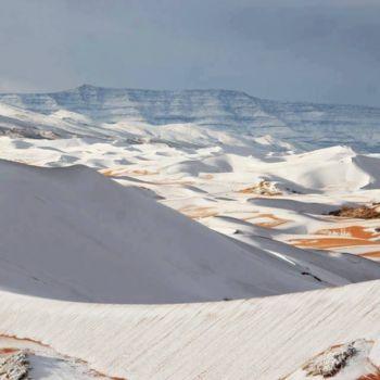 Fotografias de la nevada en el Sahara (2)
