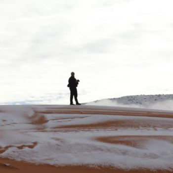 Fotografias de la nevada en el Sahara (9)