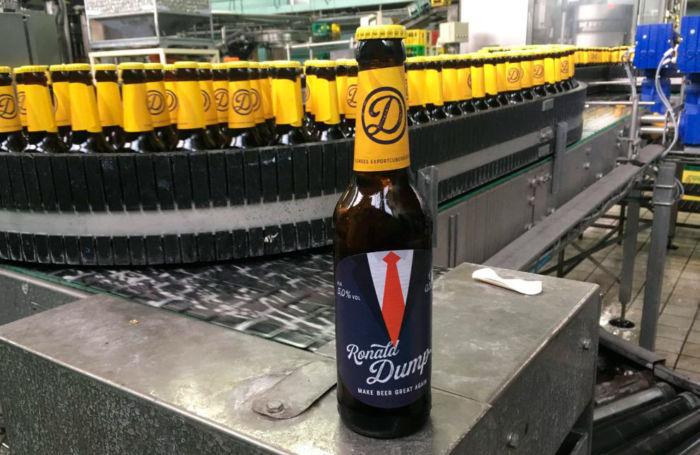 Marca de cerveza parodia de Trump