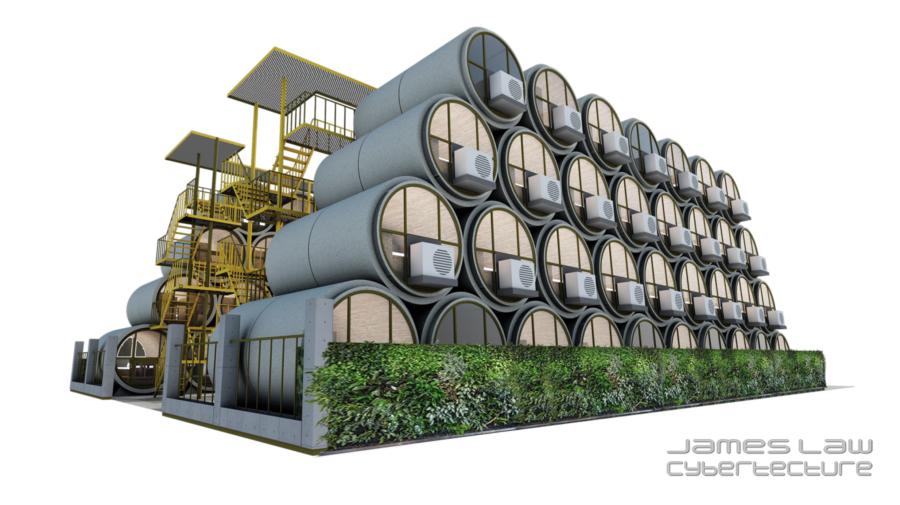 casas hechas con tuberias de hormigon (5)
