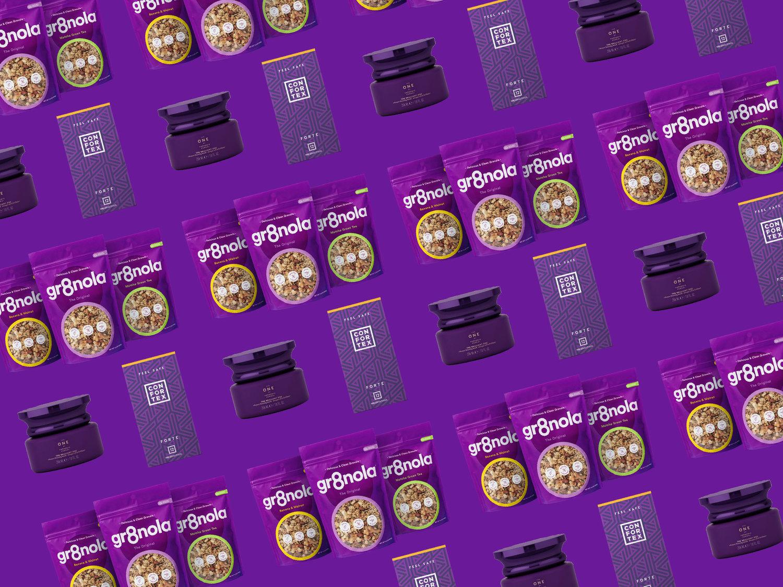 empaques inspirados en el color pantone 2018.
