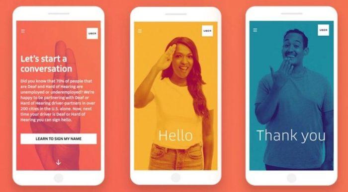 Uber enseñará lenguaje de señas
