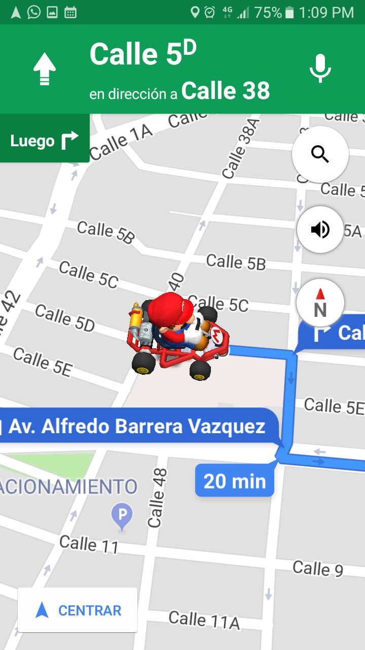 Mario Kart Google maps (1)