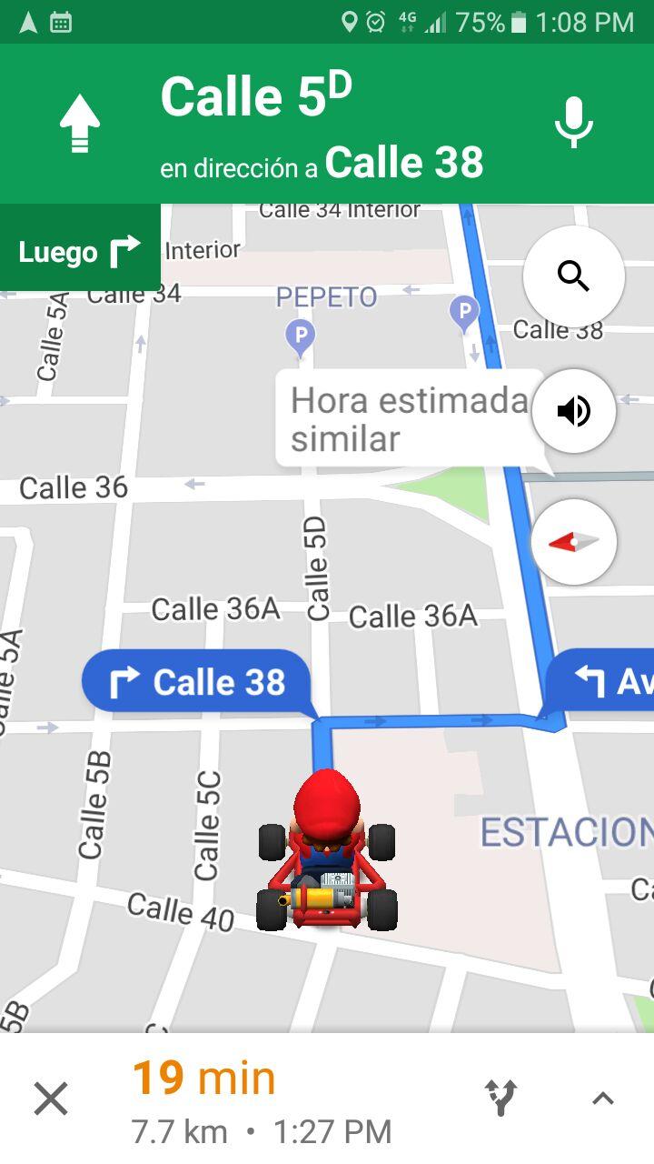 Mario Kart Google maps (2)