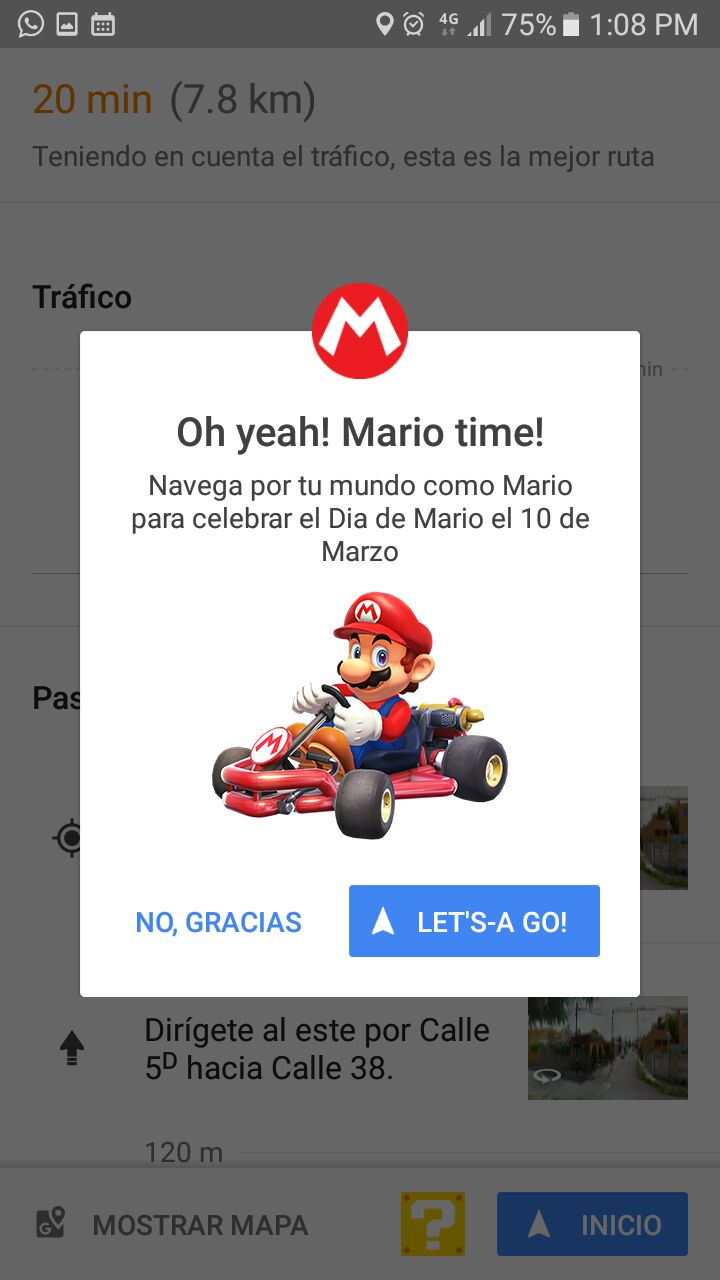Mario Kart Google maps (3)