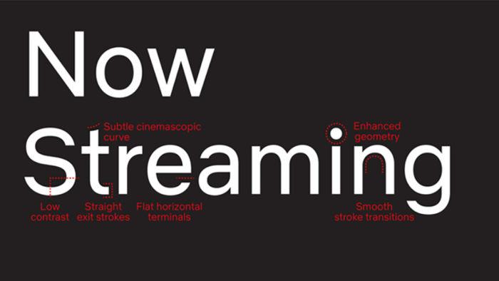tipografía personalizada de Netflix