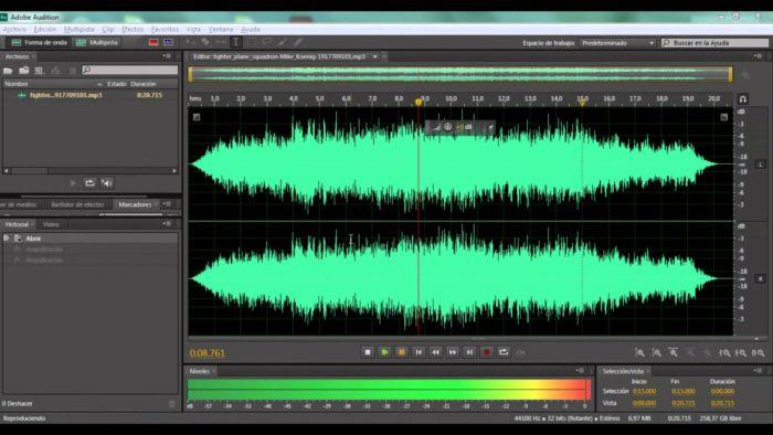Edición de audio en Adobe Audition