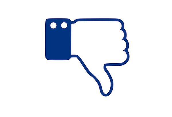 botónDownvote de Facebook