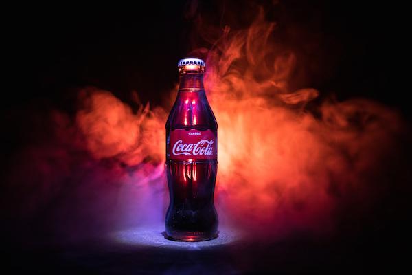 diseño de botella de Coca-Cola