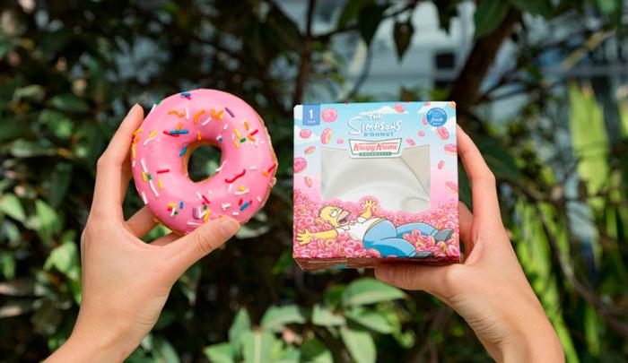 Rosquilla los simpson de Krispy Kreme