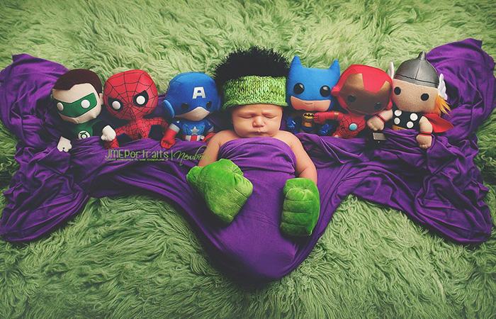 fotografías de recién nacidos realizadas por padres Geeks