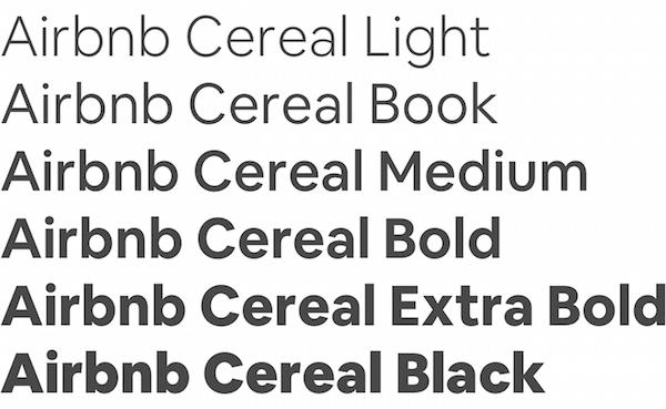 Tipografía Airbnb