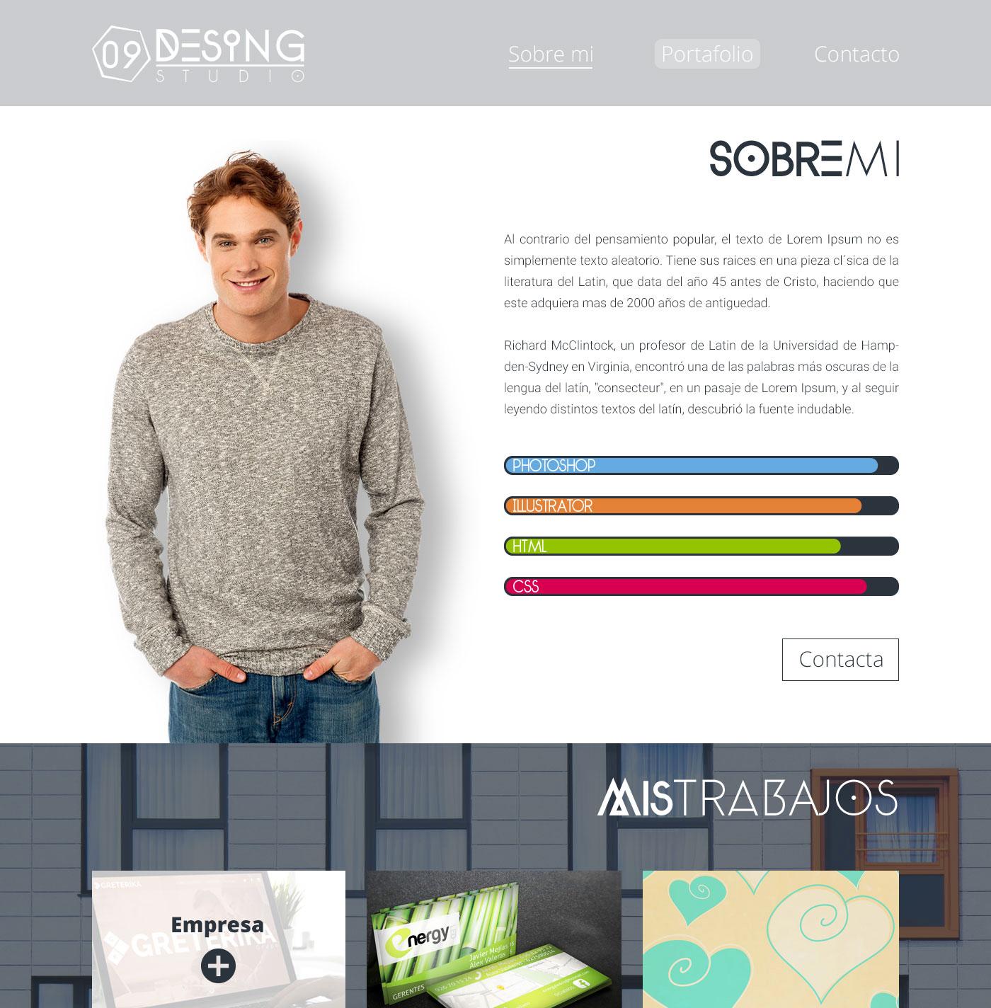 Plantilla WEB para Estudio de Diseño en PSD gratis