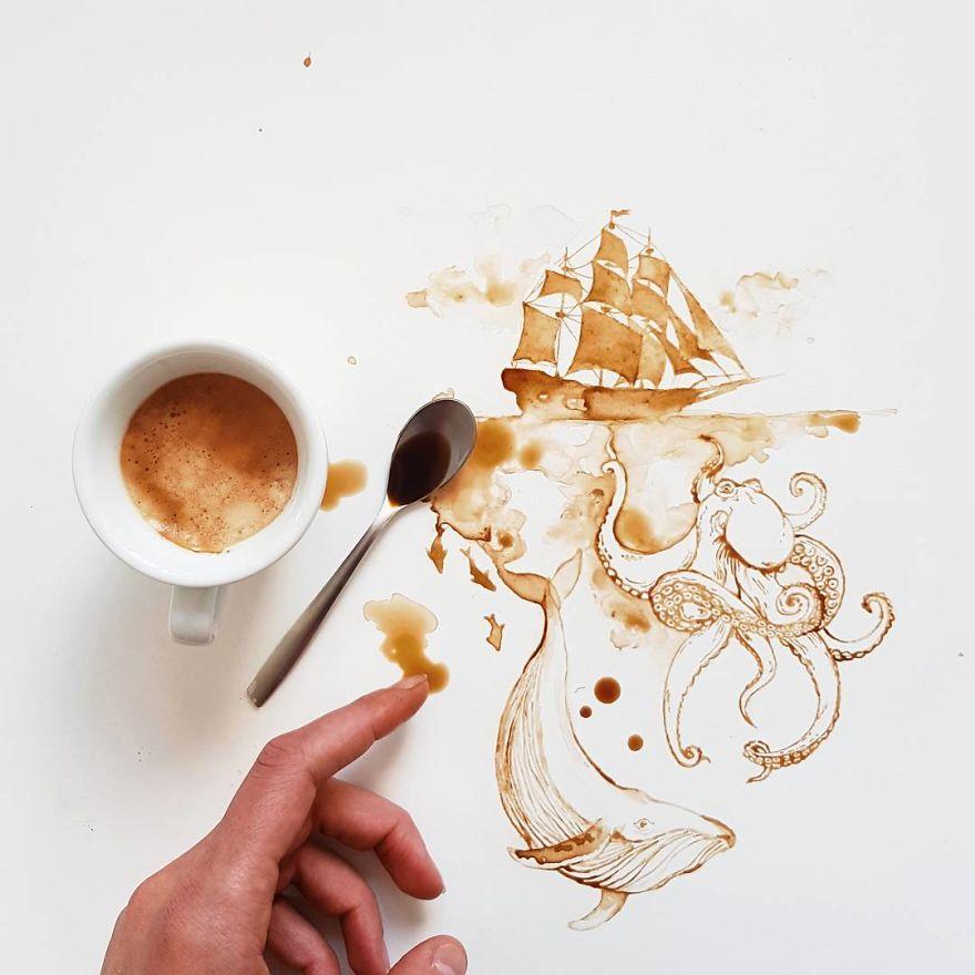 ilustraciones manchas de cafe (8)