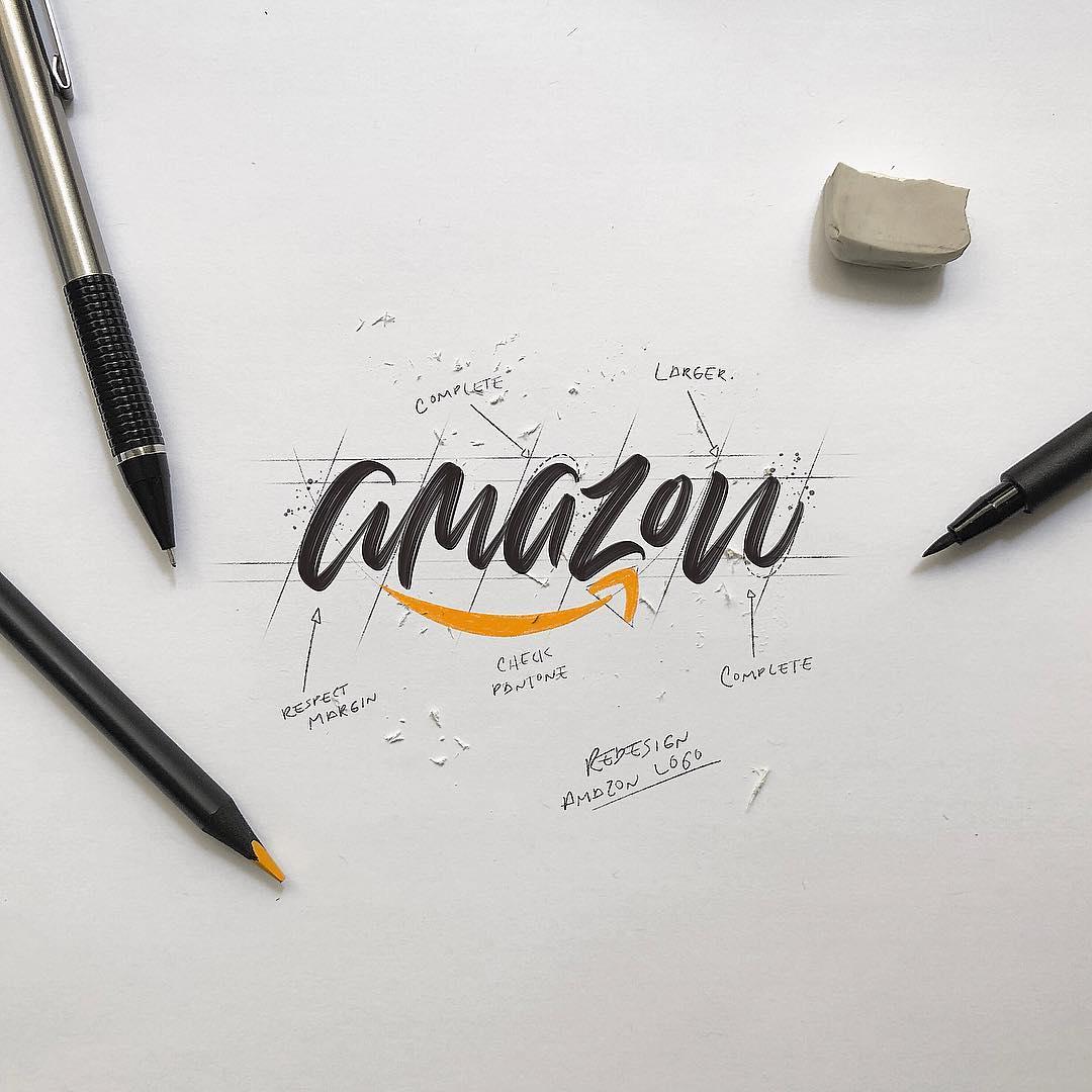 Rediseños de logotipos con tipografías manuscritas