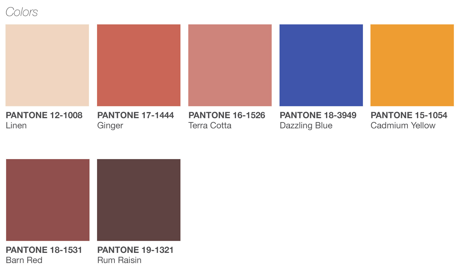 Tendencias de color para la primavera/verano 2019