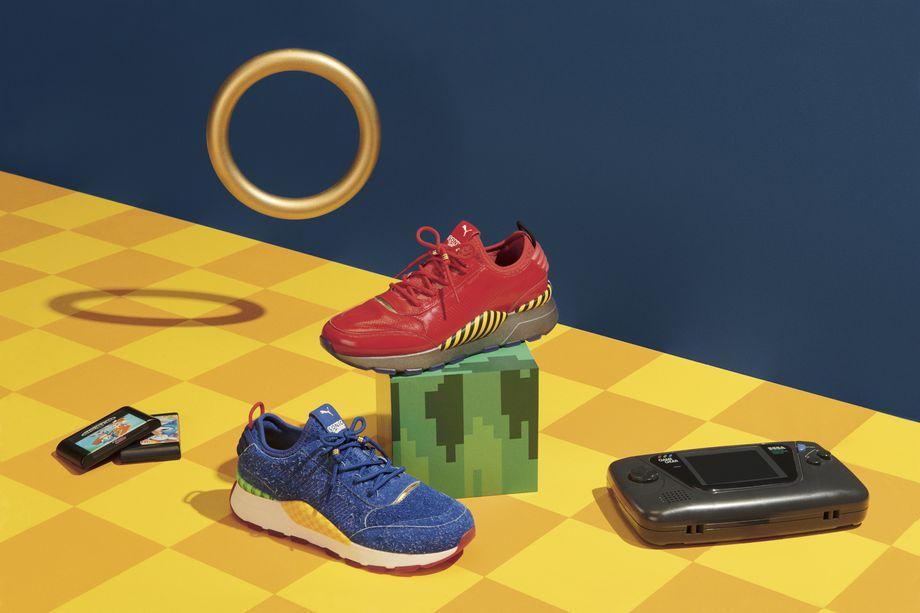 Sneakers inspirados en Sonic de Puma