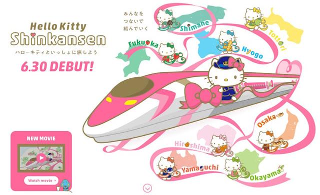 Tren inspirado en Hello Kitty de Japón