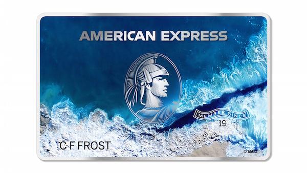 Tarjeta hecha de materiales reciclables de American Express