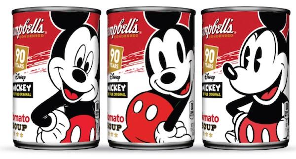 Lata de Campbell para celebrar los 90 años de Mickey Mouse