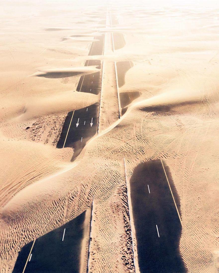 Fotografías aéreas en el desierto por Irenaeus Herok