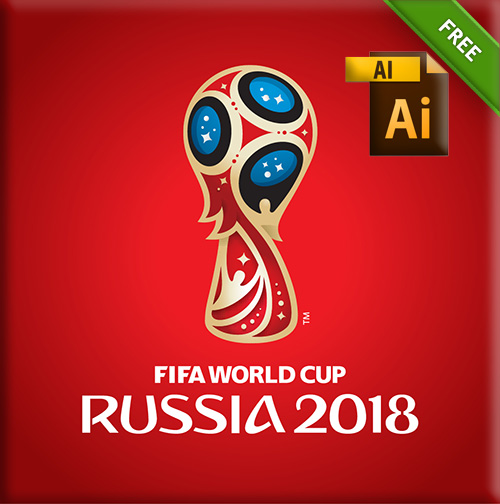 VECTOR GRATIS: Logo Russia 2018 Worldcup template editable in Adobe Illustrator