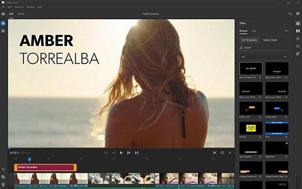 app de edición de vídeo de Adobe