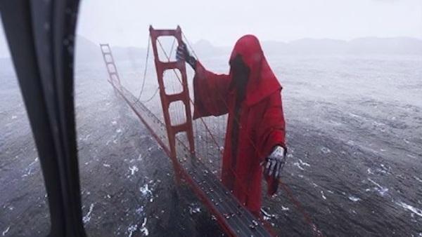 La muerte visita el Golden Gate y causa furor en Instagram