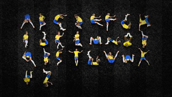 Tipografía inspirada en Neymar y sus caídas