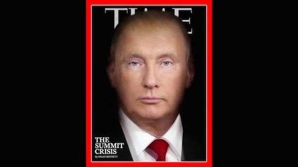 TIME fusiona a Trump y a Putin