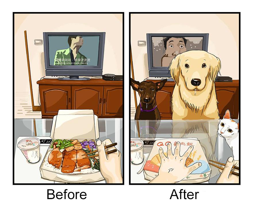 La hora de la comida