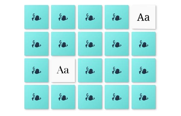juego para aprender a distinguir tipografías