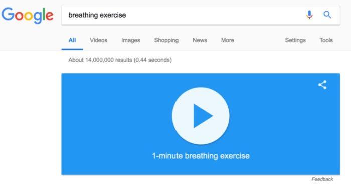 Herramienta de relajación de Google