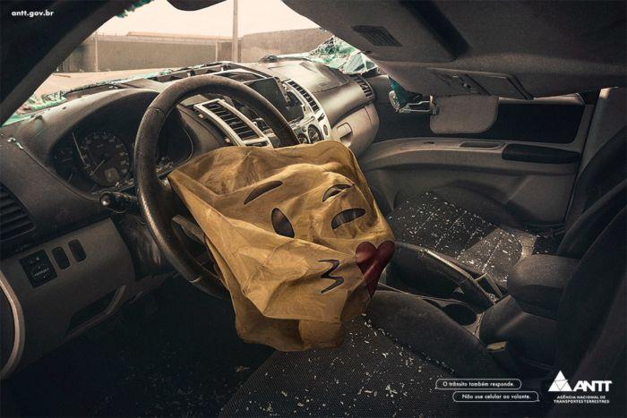 campana sobre el celular y el auto (2)