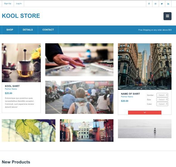 plantillas web gratuitas para e-commerce
