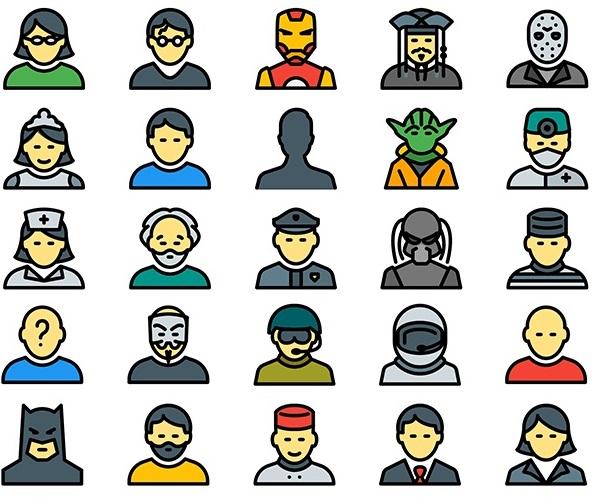 Iconos de avatares para descargar gratis