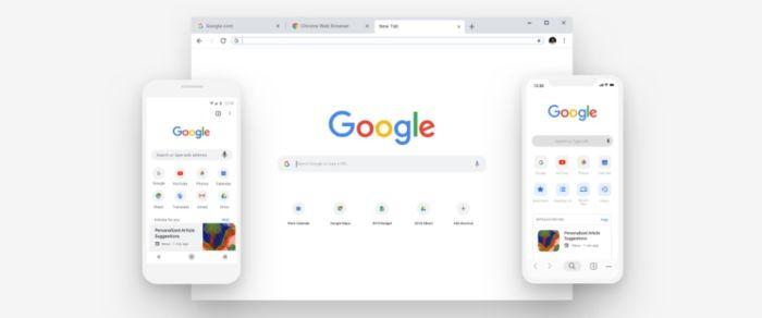 Nuevo diseño google chrome