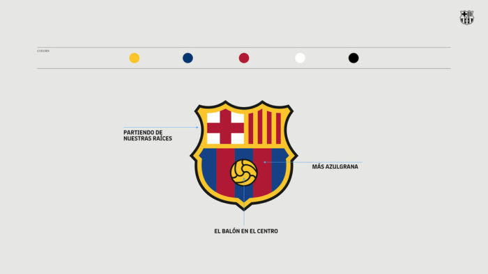 Nuevo diseño de logo delBarça