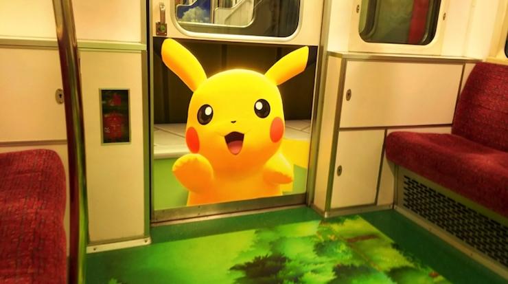 Nintendo transforma el metro de Tokio en un mapa de Pokémon