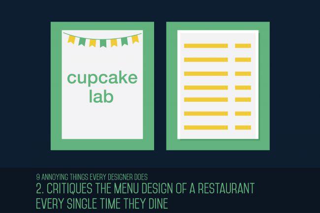 Critican el diseño del menú de un restaurante cada vez que cenan.