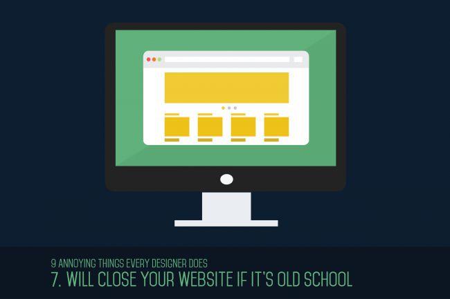 Cierran tu sitio web si es de la vieja escuela.