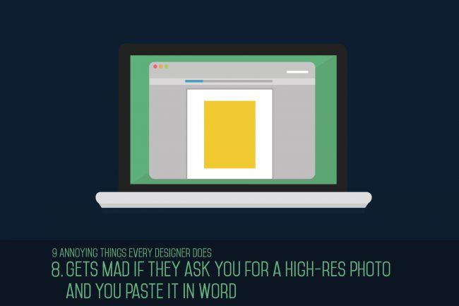 """Se molestan cuando piden fotos en alta resolución para pegarlo en """"Word""""... y ¿a quien no le molesta?."""