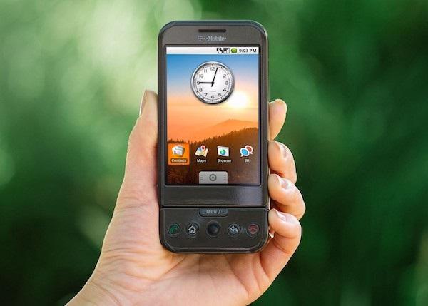 primer teléfono con Android: 'T-Mobile G1' (2008)