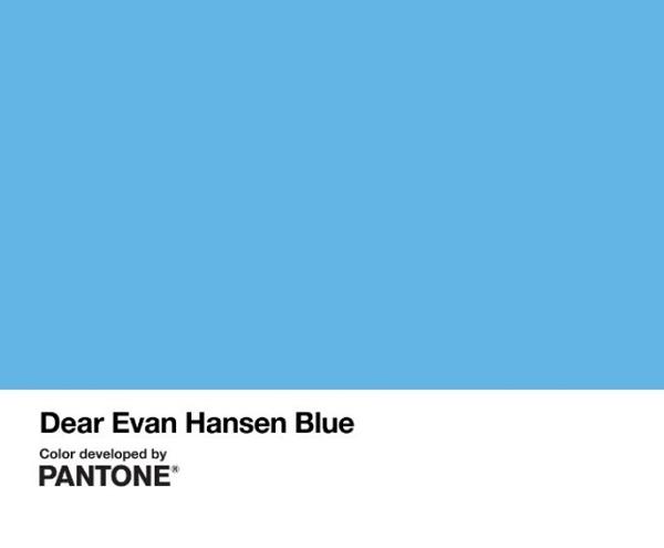 Nuevo color Pantone para elDear Evan Hansen