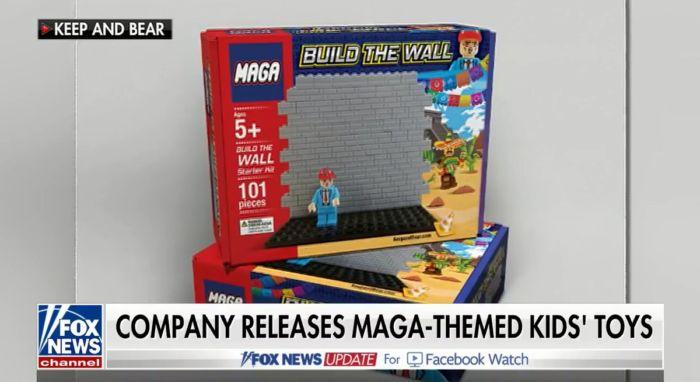 Imitación de LEGO incita a la contrucción del muro de Trump
