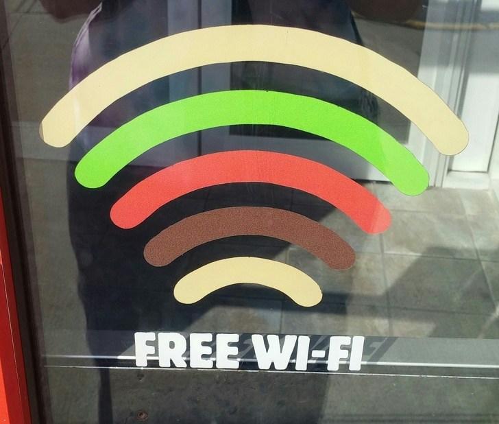 Llevar la marca hasta en la señal de Wi-fi.