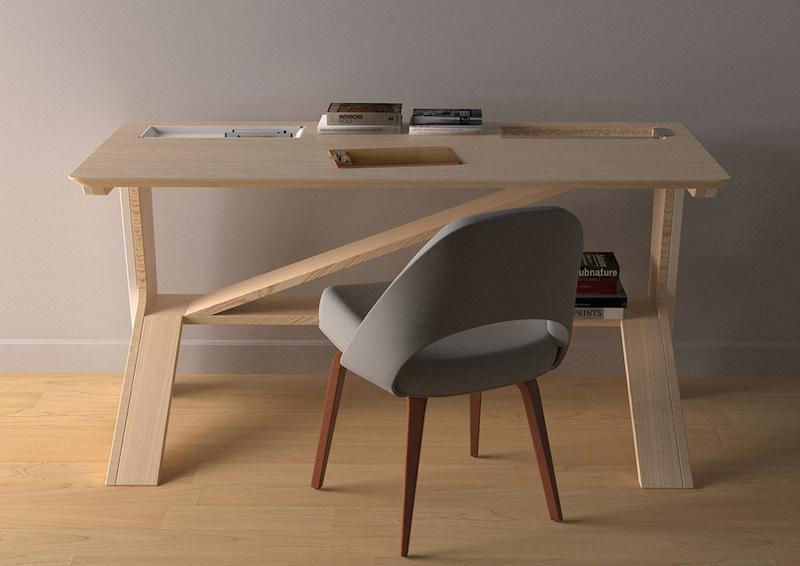 Diseño de escritorio pensado para recibir a tu gato